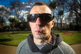 Sunglasses For Blind People This Device Allows Blind People To See Through Their Tongues