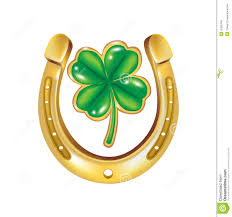 old rusty horseshoe and four leaf clover stock photo image 49212895