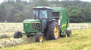 john deere b wrap in field support youtube