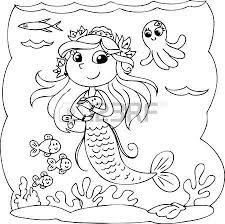 3 260 mermaid cartoon cliparts stock vector royalty free