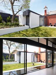 this edwardian manor received a modern extension and reflection