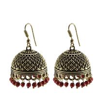 jhumka earrings uk oxidized handmade jhumka earrings tribal jewellery jaipur jhumki