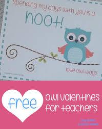 teacher mama free printable owl valentines for teachers boy