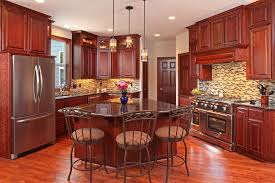 what paint color goes best with cherry wood cabinets 25 cherry wood kitchens cabinet designs ideas