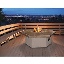 48 inch propane gas fire pit table by cal flame hexagon coffee
