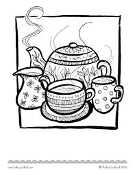 tea coloring pages pictures to pin on pinterest clanek