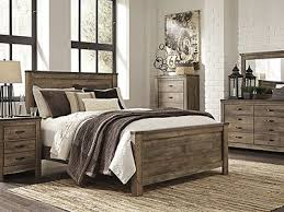 trinell 5 pc queen bedroom set replicated oak grain takes the