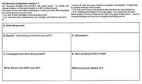 printables cognitive behavioral therapy worksheets for depression