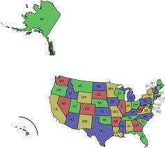 us map states hawaii state abbreviations map lower 48 states alaska and hawaii