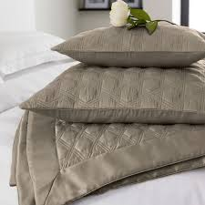 hotel adelphi satin bed accessories in taupe at bedeck 1951