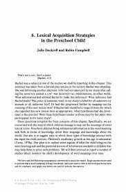 Business Acquisition Letter Of Intent by Lexical Acquisition Strategies In The Preschool Child Springer