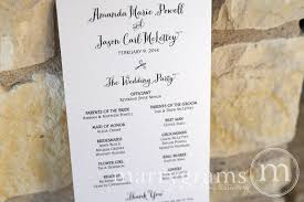 cardstock for wedding programs wedding order of service single sided flat program thick style