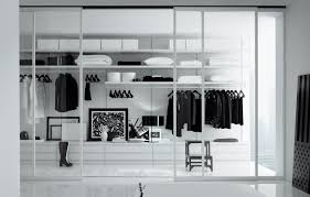 Closet Ideas Decorations Elegant Black Color Scheme Interior Of Glass Walk In