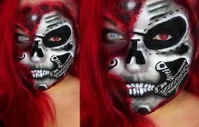 half robot cyborg face halloween karneval tutorial face