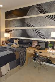 bedroom sports decorating ideas baseball wallpaper unique