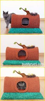 knitting pattern cat cave crochet tree log cat cave house paid pattern crochet cat house