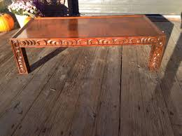 large vintage coffee table large drexel estorada coffee table mid century carved coffee table