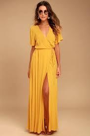 yellow dress lovely mustard yellow dress maxi dress wrap dress 49 00