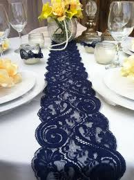 table runners wedding navy blue lace table runner weddings decor 2 yards 6ft 8 wide