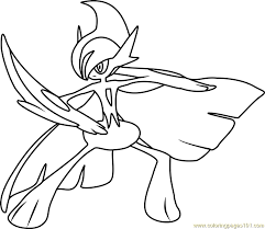 Pokemon Coloring Pages Gallade | mega gallade pokemon coloring page free pokémon coloring pages