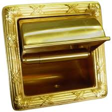 luxe sherle wagner 22 karat gold plated recessed toilet tissue