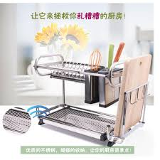 Dishes Rack Drainer Alpha Living Stainless Steel Kitchen Dish Drainer Rack With