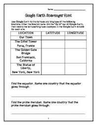 latitude and longitude worksheets using latitude and longitude