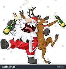 christmas party celebration humorous cartoon vector stock vector
