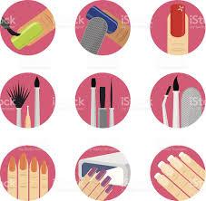 nail art icon set stock vector art 467256767 istock