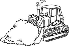 sand bulldozer coloring page wecoloringpage