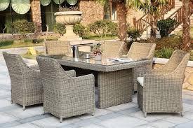 salon de jardin haut de gamme resine tressee magnifique ensemble table fauteuils haut de gamme osier naturel