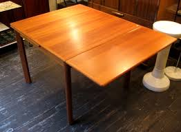 square table with leaf square teak draw leaf dining table sold white trash nyc