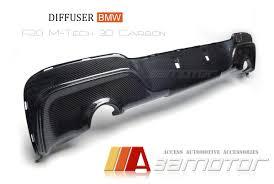 bmw 1 series car mats m sport 3d type carbon fiber diffuser dual for bmw 1 series f20 pre lci m