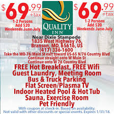 Comfort Inn West Branson Mo Midwest Travel Buddy Missouri Midwest Hotel Coupons
