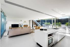 floating kitchen island design tip make a kitchen island float by using a recessed