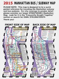 Manhattan Subway Map by Streetwise Manhattan Bus Subway Map Laminated Metro Map Of