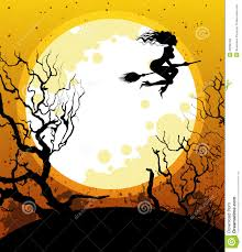 free halloween vector background halloween background with witch royalty free stock photos image