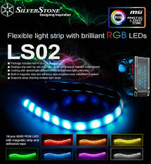 color led light strips silverstone debuts ls02 flexible light strip takes on tech