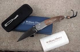 william henry kitchen knives william henry attache button lock w titanium mammoth ivory