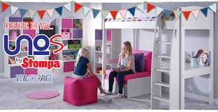 High Sleeper With Desk And Futon Stompa Furniture For Kids Rooms Plus High Sleepers U0026 Storage Beds