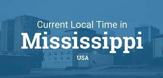 United States Map Time Zones by Current Local Time In Mississippi United States