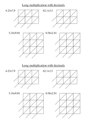 long multiplication with gelosia worksheets by tristanjones