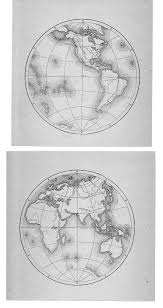 Blank Hemisphere Map by Jf Ptak Science Books Maps Cartography History Of Mapmaking