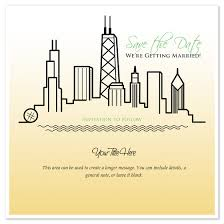 chicago wedding invitations save the date chicago skyline wedding invitations cards on