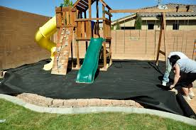 Playground Sets For Backyards by Outdoor Swing Sets And How To Prevent Weeds In The Long Run All