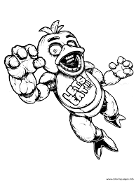 fnaf freddy five nights at freddys lets eat coloring pages printable
