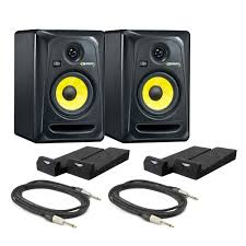 krk home theater krk rokit rp5 g3 active monitors with isolation pads and cables
