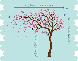 Tree Decals Nursery Wall by Tree With Large Branches Leaves U0026 Birds Nursery Wall Decal Décor