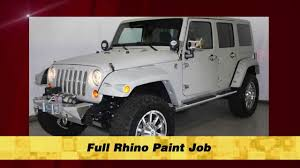 jeep rhino save 15 000 on custom jeep rhino paint u0026 chrome package youtube