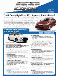 toyota camry hybrid vs hyundai sonata hybrid 2012 camry hybrid vs 2011 hyundai sonata hybrid